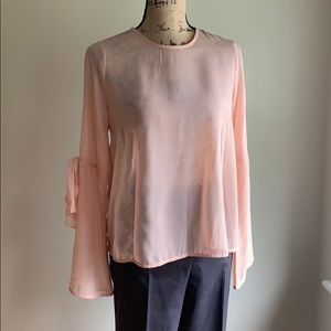 Cloud Chaser peach long sleeved blouse/top S